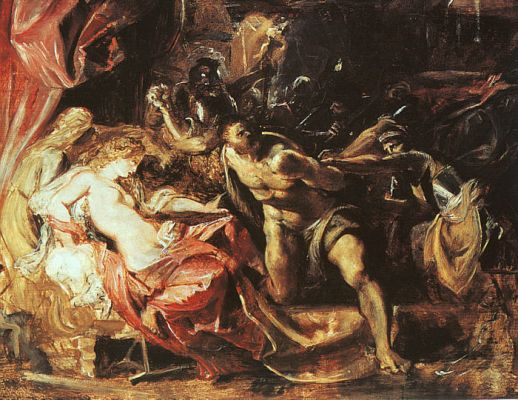 Samson and Delilah Art by Rubens